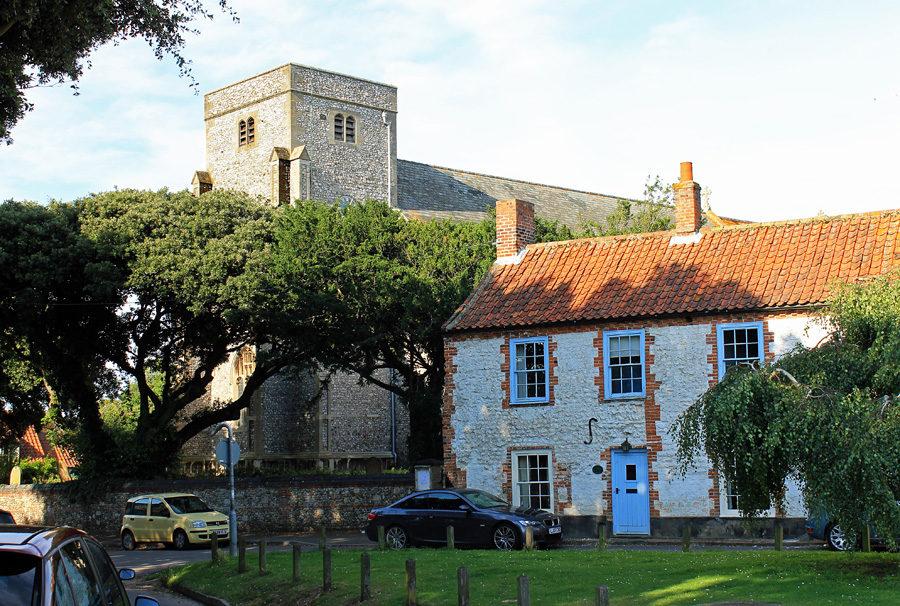 Thornham village and church