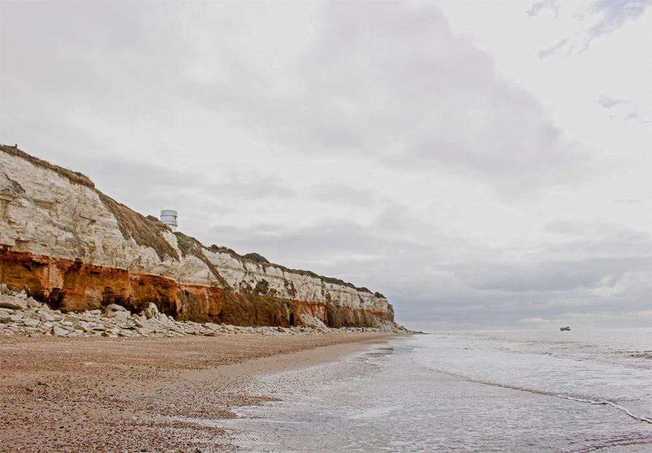 The distinctive cliffs at Hunstanton